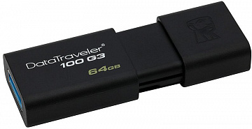 Купить USB-накопитель Kingston DataTraveler 100 G3 64Gb, USB 3.0 DT100G3/64GB (Black)