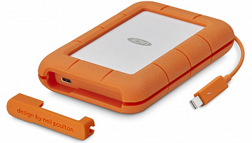 Купить Внешний накопитель LaCie Rugged Thunderbolt USB-C HDD 4TB STFS4000800 (Orange)