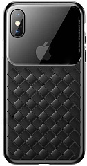 Купить Чехол Baseus Glass & Weaving (WIAPIPH58-BL01) для iPhone X/Xs (Black)