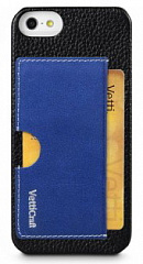 Купить Чехол Vetti Prestige Series Leather Snap Card Holder для iPhone 5/5S/SE (Black/Vintage Shine Blue)