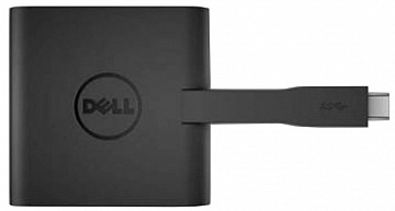Купить Адаптер Dell DA200 USB-C to HDMI/VGA/Ethernet/USB 3.0 (Black)