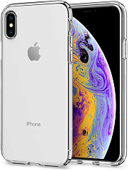 Купить Чехол Spigen Liquid Crystal (063CS25110) для iPhone X/Xs (Clear)