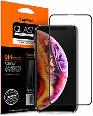Купить Защитное стекло Spigen Glas.tR SLIM Full Cover (063GL25234) для iPhone Xs/X (Black)